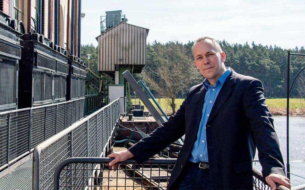 Carsten Kranz am Wasserwerk Oldau